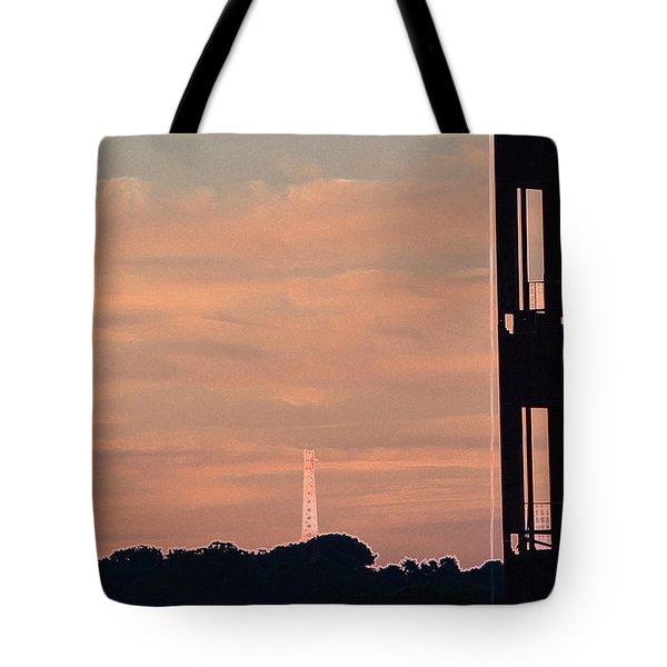 Tote Bag featuring the photograph Sunset And Empty Shell 2  by Lyle Crump
