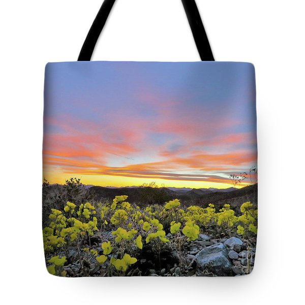 Sunset And Primrose Tote Bag by Michele Penner