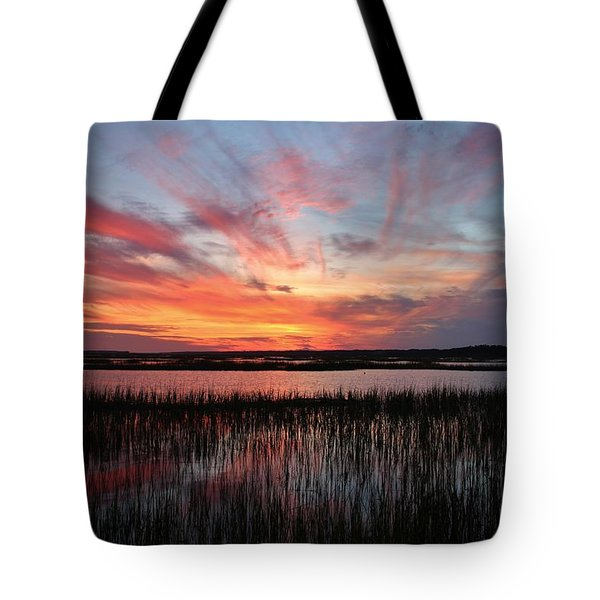 Sunset And Reflections 2 Tote Bag