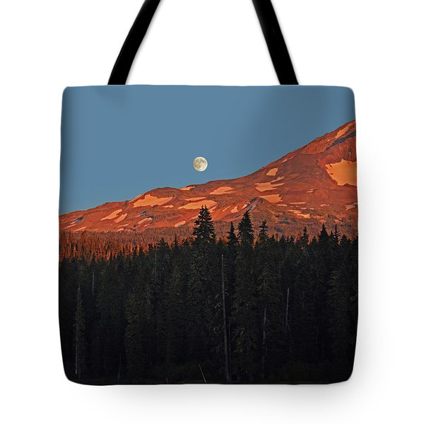 Sunset And Sunrise At Mt Adams Tote Bag