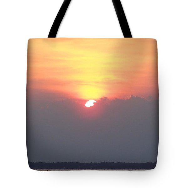 Tote Bag featuring the photograph Sunset And The Storm by Sandi OReilly