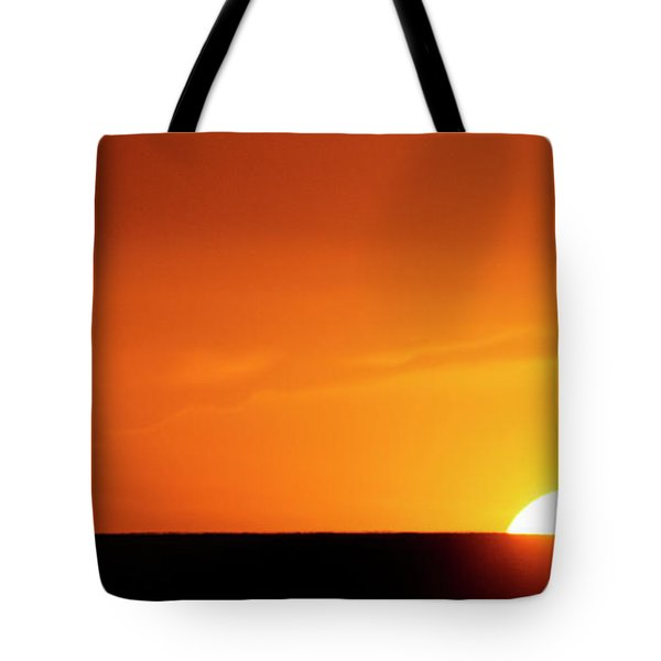 Sunset And Tree -01 Tote Bag