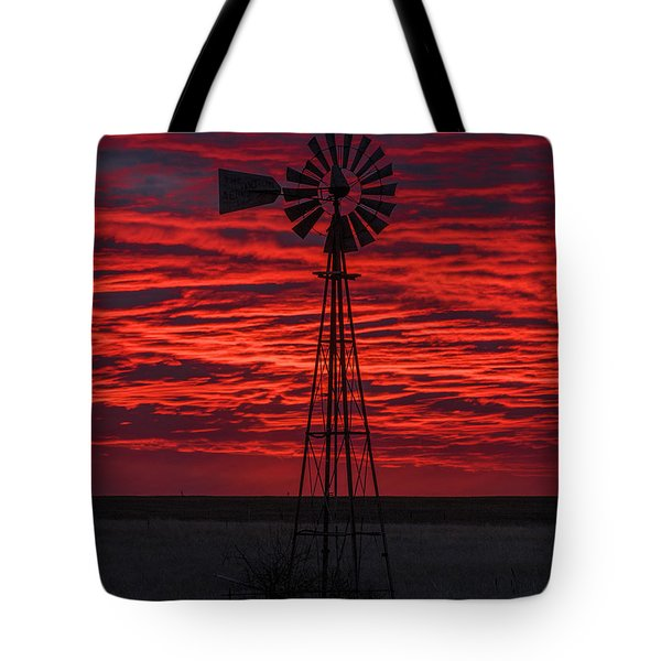 Tote Bag featuring the photograph Sunset And Windmill 02 by Rob Graham