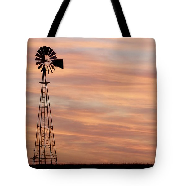 Sunset And Windmill 05 Tote Bag