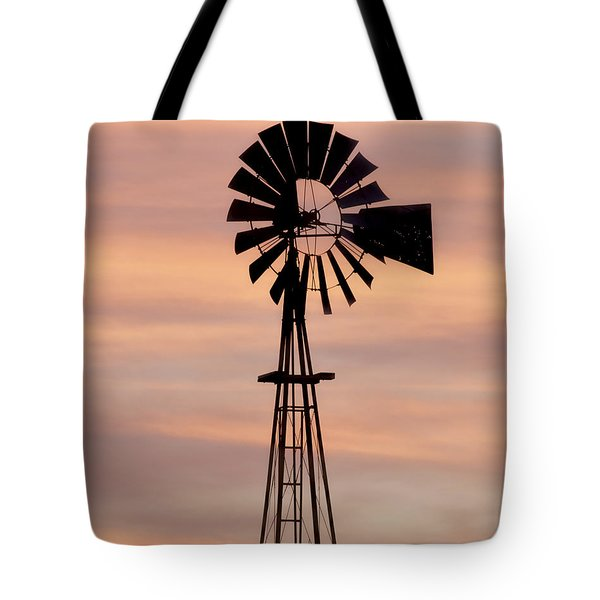 Sunset And Windmill 06 Tote Bag