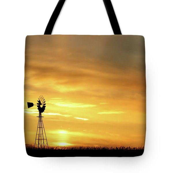 Tote Bag featuring the photograph Sunset And Windmill 11 by Rob Graham