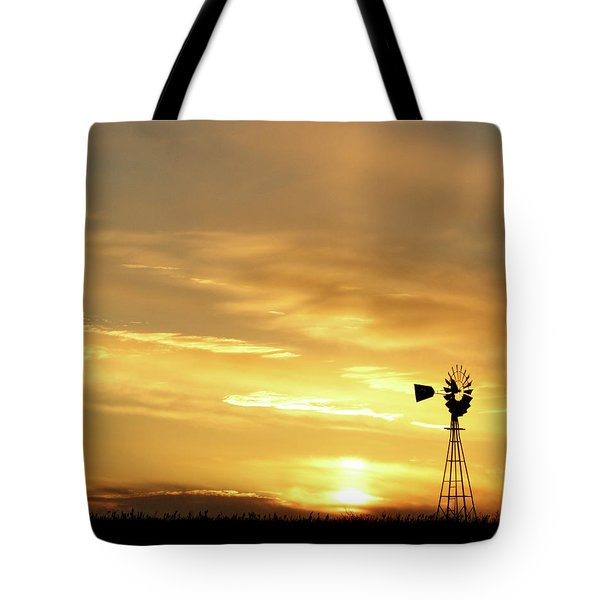 Tote Bag featuring the photograph Sunset And Windmill 13 by Rob Graham
