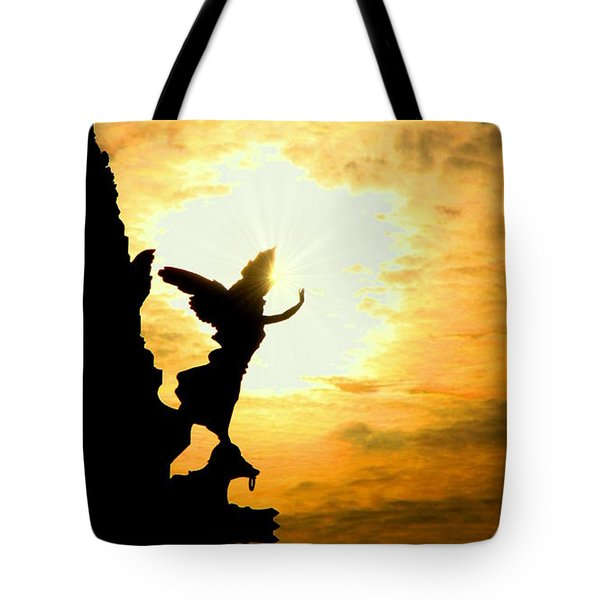 Sunset Angel Tote Bag