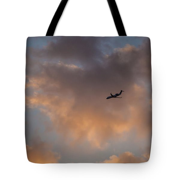 Sunset Approach  Tote Bag by Ray Congrove