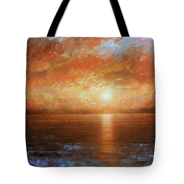 Sunset Tote Bag by Arthur Braginsky