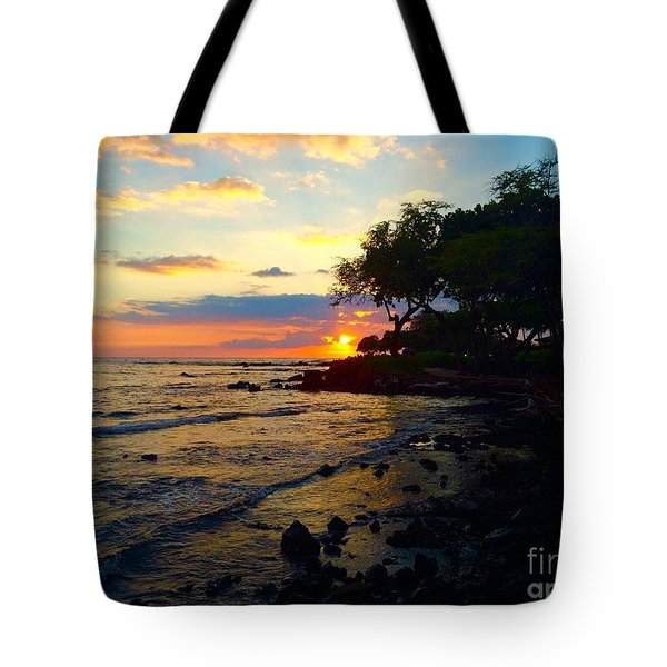 Sunset At A-bay Tote Bag