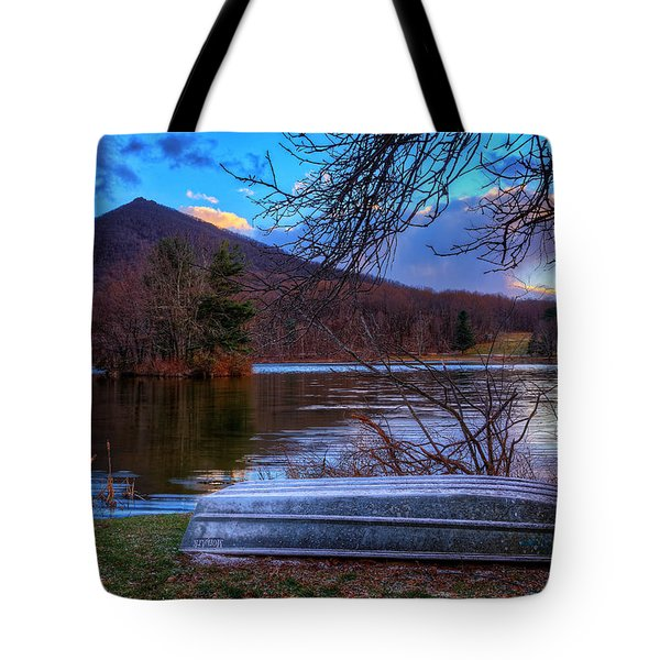 Sunset At Abbott Lake Tote Bag