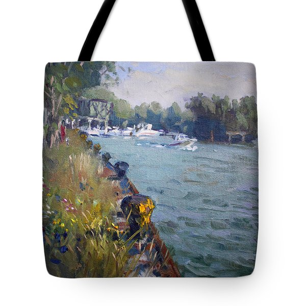 Sunset At An Abandoned Dock Tote Bag