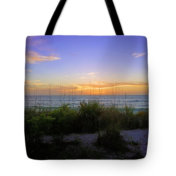 Sunset At Barefoot Beach Preserve In Naples, Fl Tote Bag