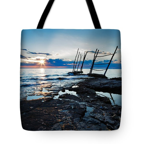 Tote Bag featuring the photograph Sunset At Basanija by Ian Middleton