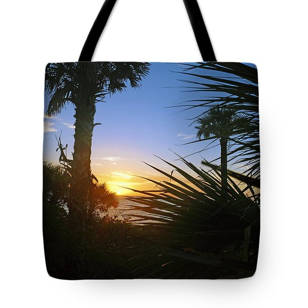 Sunset At Bearefoot Beach In Naples Tote Bag