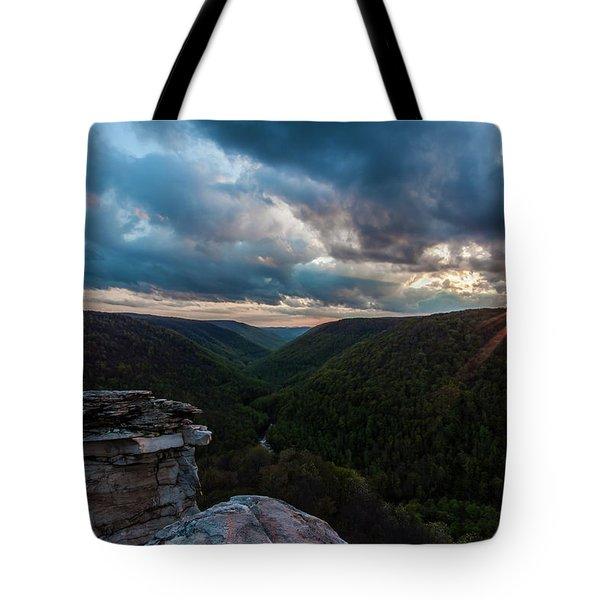 Sunset At Blackwater Falls State Park Tote Bag