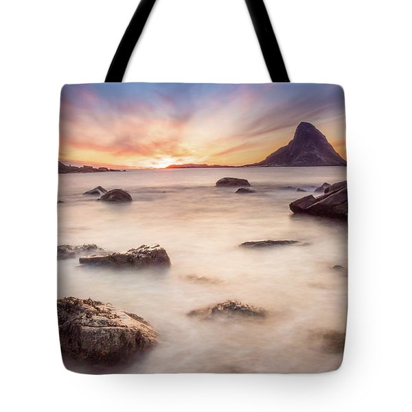 Sunset At Bleik Tote Bag