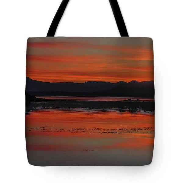 Sunset At Brothers Islands Tote Bag