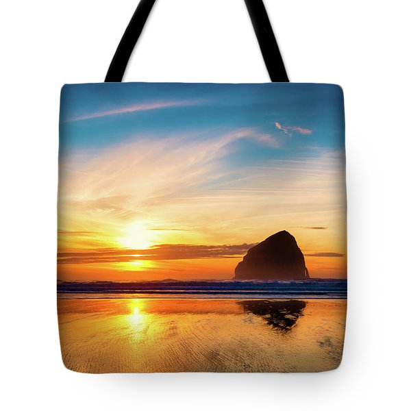 Sunset At Cape Kiwanda Tote Bag