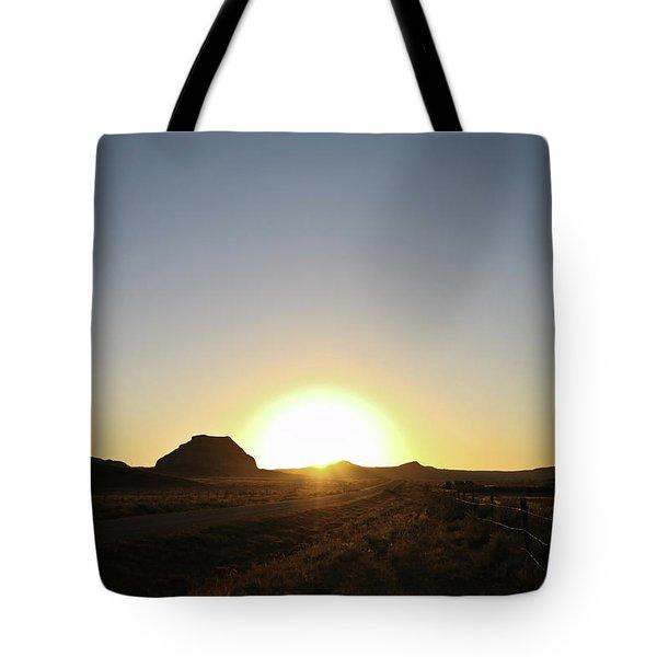 Sunset At Castle Butte Sk Tote Bag