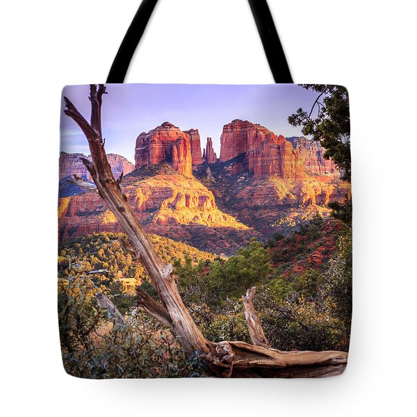 Sunset At Cathedral Rock Tote Bag