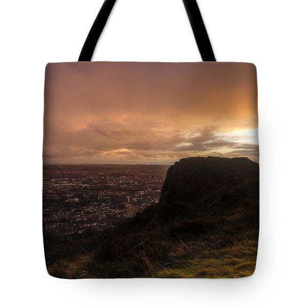 Sunset At Cavehill Tote Bag