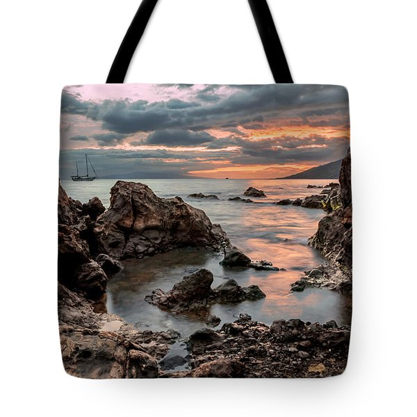 Sunset At Charley Young Beach Tote Bag