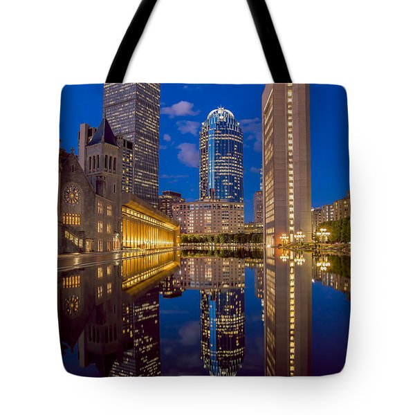 Sunset At Christian Plaza Tote Bag