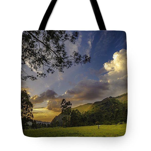 Sunset At Cocora Tote Bag