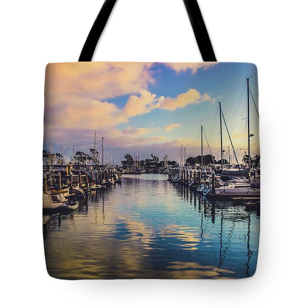 Tote Bag featuring the photograph Sunset At Dana Point Harbor by Andy Konieczny