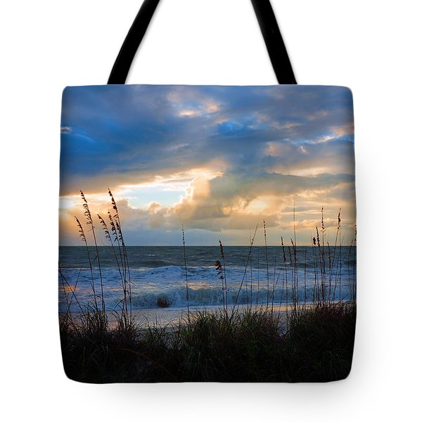 Sunset At Delnor Wiggins Pass State Park Tote Bag