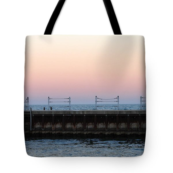 Sunset At Diversey Harbor Tote Bag