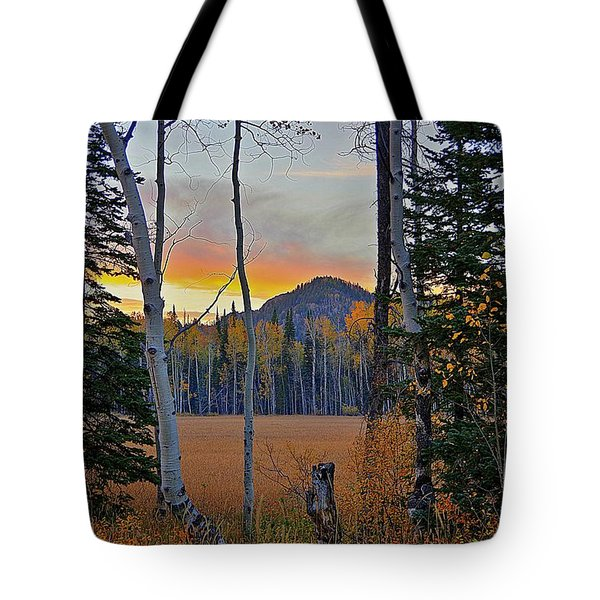 Sunset At Dry Lake Tote Bag