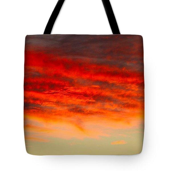 Sunset At Eaton Rapids 4826 Tote Bag