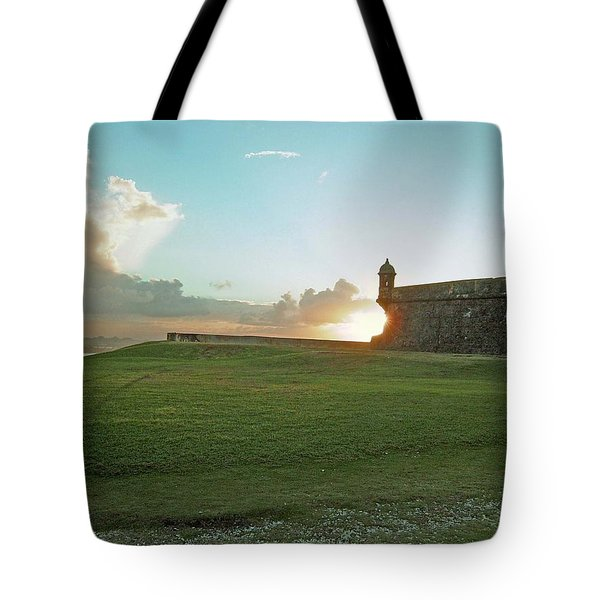 Sunset At El Morro Tote Bag