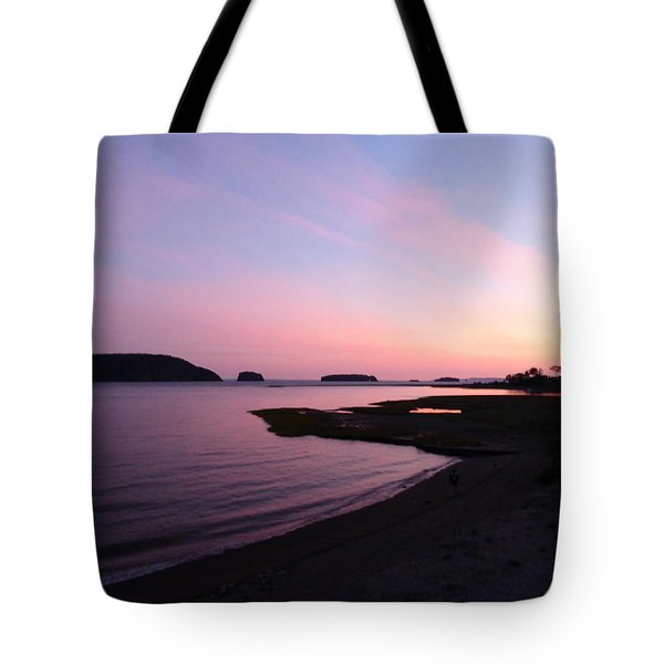 Tote Bag featuring the photograph Sunset At Five Islands by Joel Deutsch