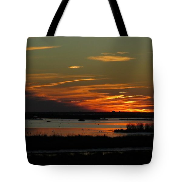 Tote Bag featuring the photograph Sunset At Forsythe Reserve by Melinda Saminski