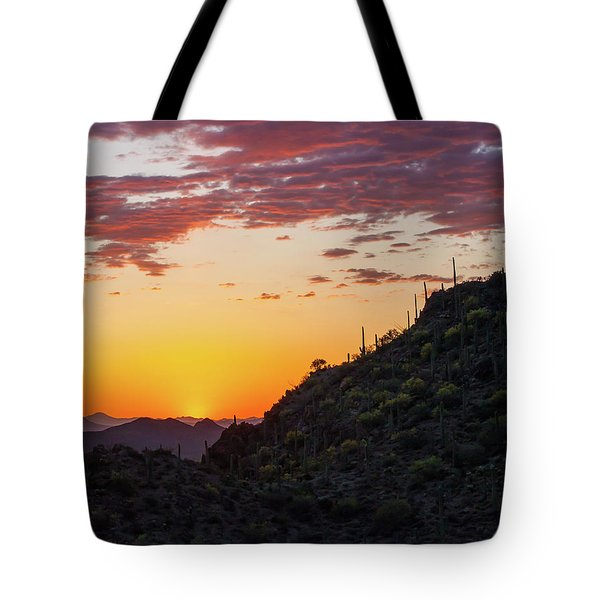 Sunset At Gate's Pass Tote Bag