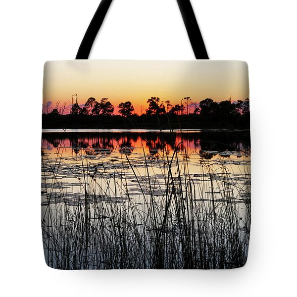 Sunset At Gator Hole Tote Bag