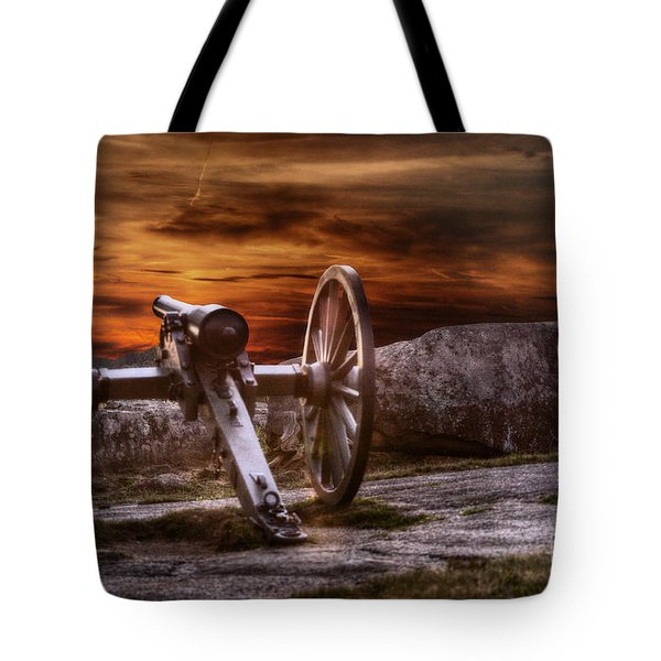 Sunset At Gettysburg Tote Bag by Randy Steele