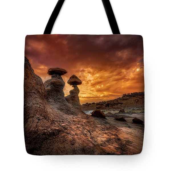 Sunset At Goblin Valley Tote Bag