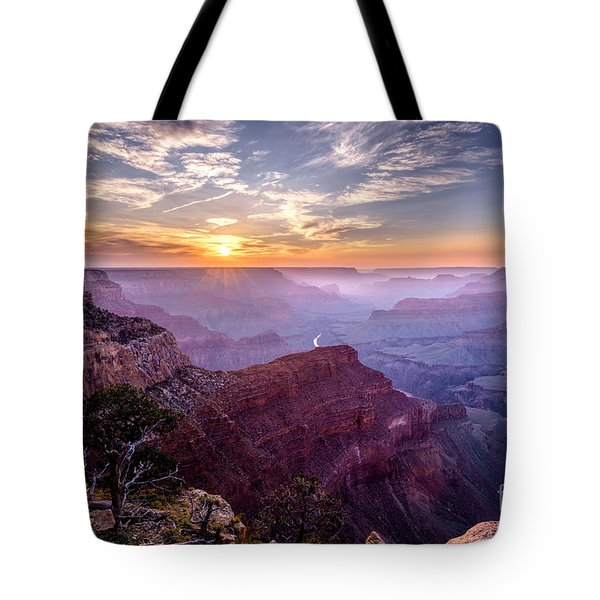 Sunset At Grand Canyon Tote Bag