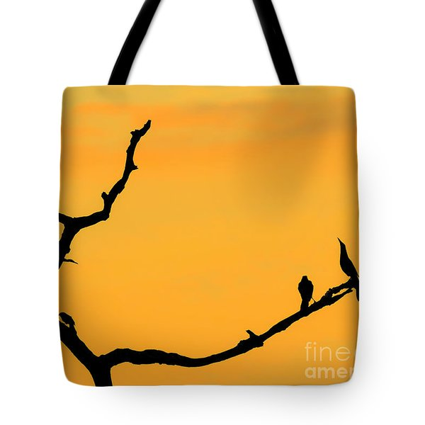 Sunset At Green Cay Wetlands Tote Bag