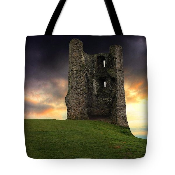 Sunset At Hadleigh Castle Tote Bag