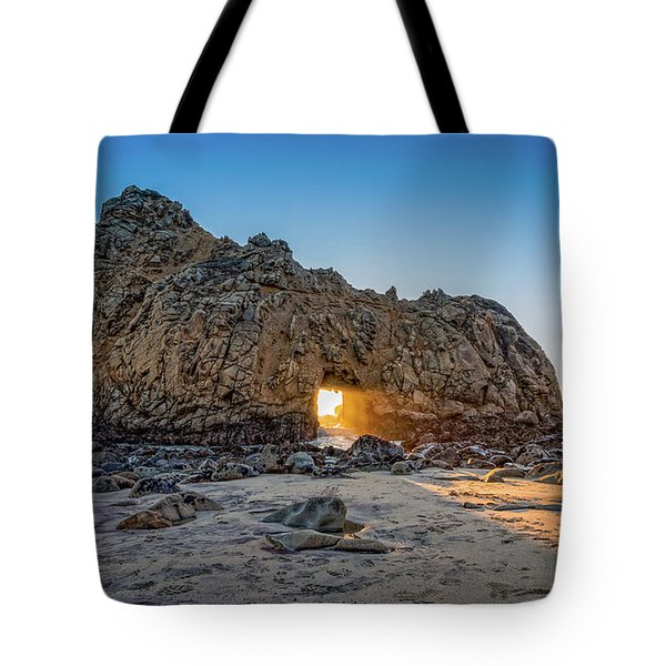 Sunset At Hole In The Rock Tote Bag by James Hammond