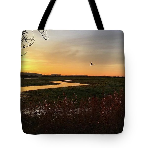 Sunset At Holkham Today  #landscape Tote Bag by John Edwards