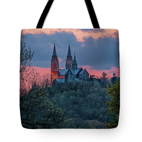 Sunset At Holy Hill Tote Bag