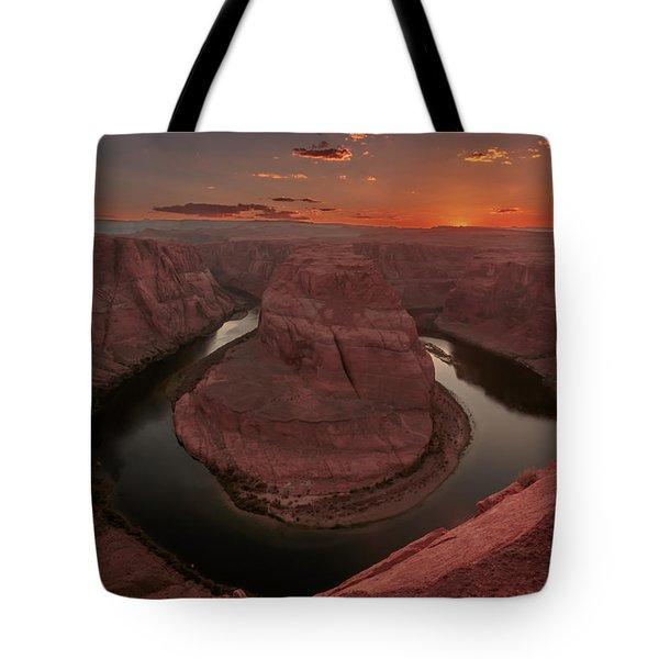 Sunset At Horseshoe Bend Tote Bag