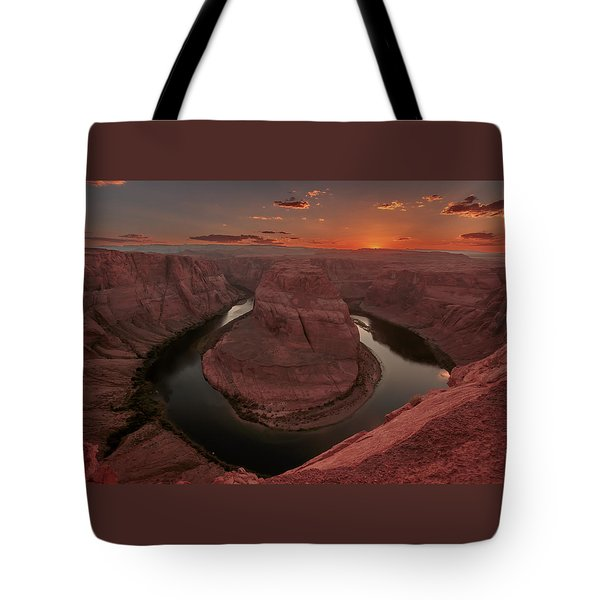 Sunset At Horseshoe Bend Tote Bag
